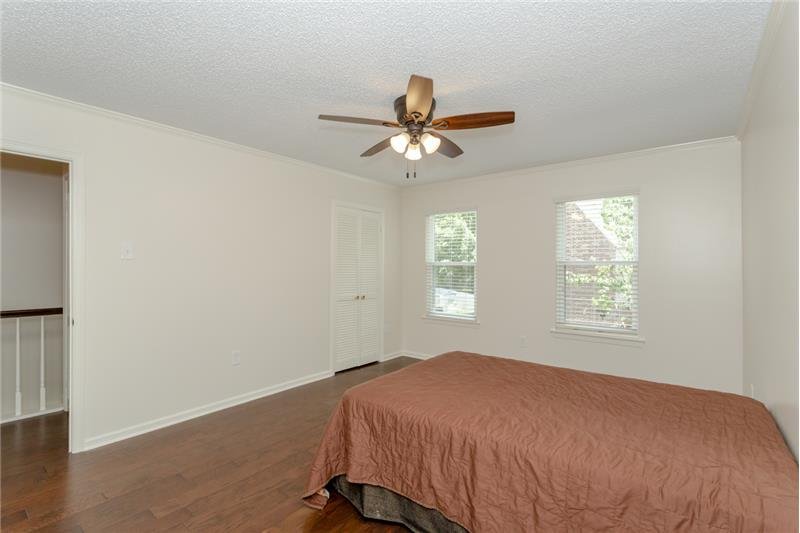 Front Bedroom with new wood floors