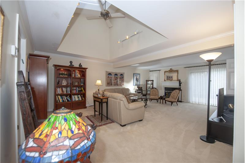 1029 Kennett Way, West Chester, Living Room with Fireplace