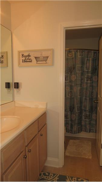 Bath tub and the commode separated