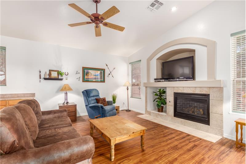 Cozy Gas Fireplace in Family Room