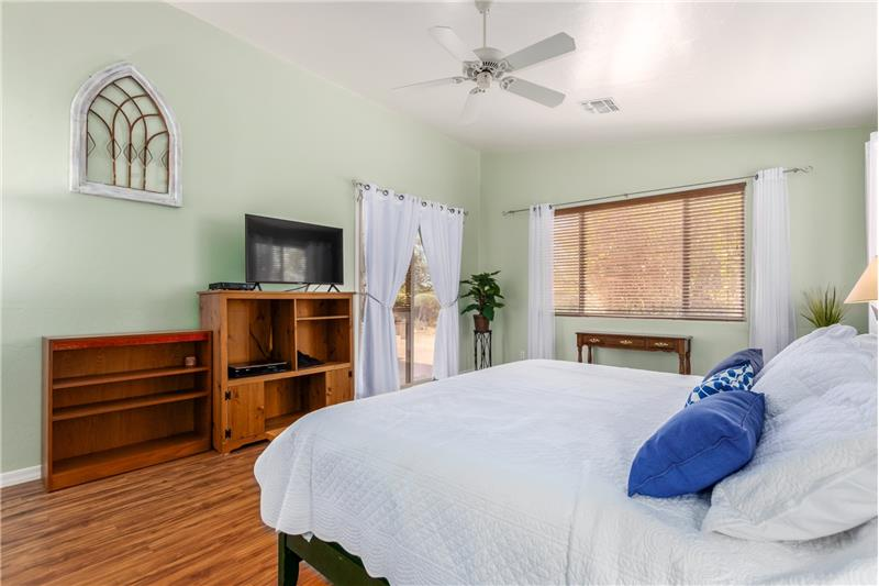 Window Blinds & Ceiling Fans Througout