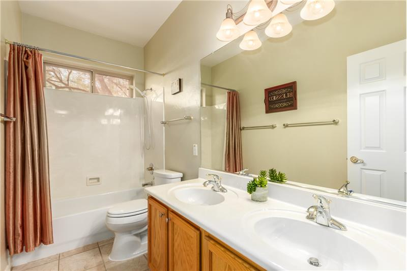 Guest Bath with Dual Vanity