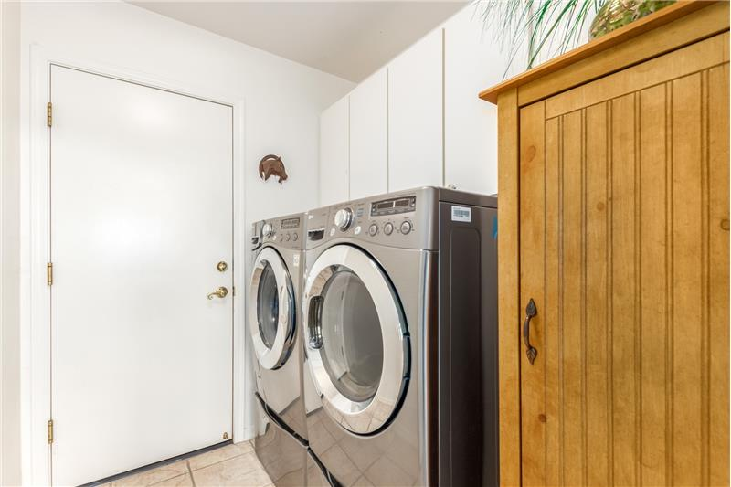 Large Laundry Room with LG Washer/Dryer included!