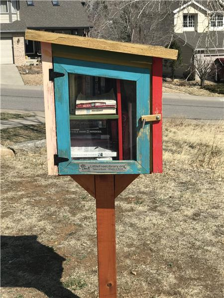 The Little Free Library in the park is popular.