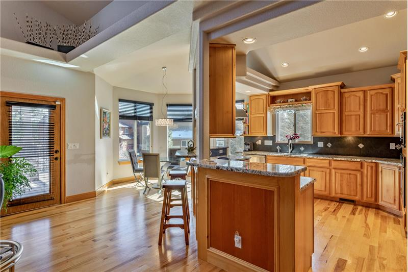 Kitchen approached from great room