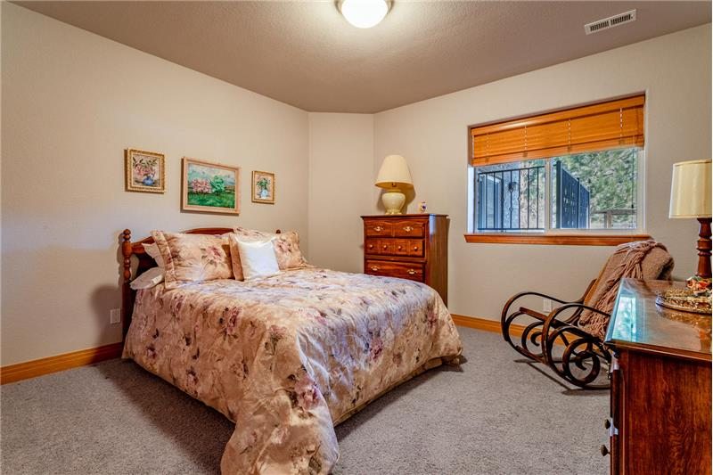 One of 3 guest bedrooms in the basement