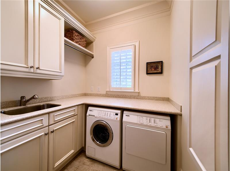 First floor Laundry with European Washer and Dryer
