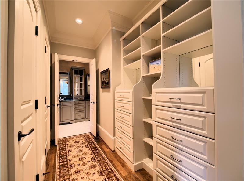 Built In Drawers and H/H closets