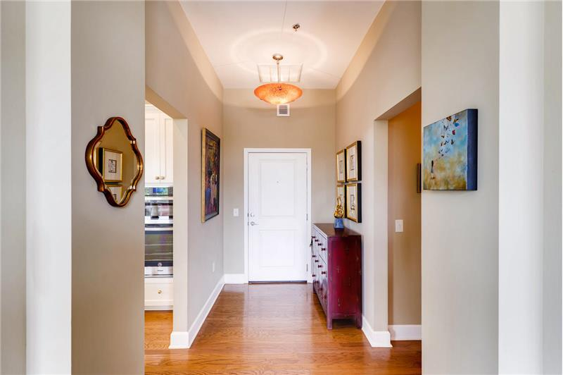 Gracious foyer provides a lovely introduction to this move-in ready home with 10 foot ceilings throughout.