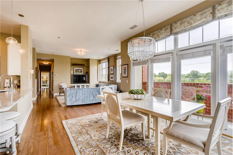 Open to the living area... great flow for both casual and more formal entertaining.