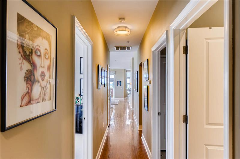 View of hallway leading from owner's suite to the