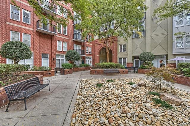 One of two landscaped courtyards where residents can sit and relax.