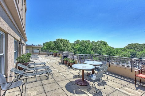 Roof-top terrace with Uptown views a great place to relax and meet and greet your neighbors.