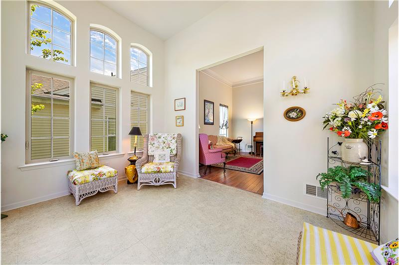 Opens to Living Area