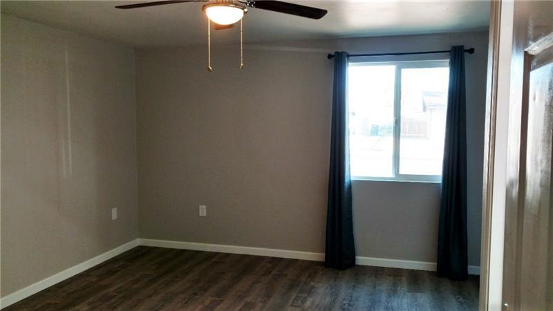 Master bedroom, vinyl flooring