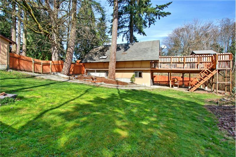 Just under half an acre with lots of room to roam...