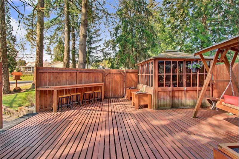 Your view as you head out front door to go to detached garage or driveway - or the bunk room/hobby room/maybe a music room?