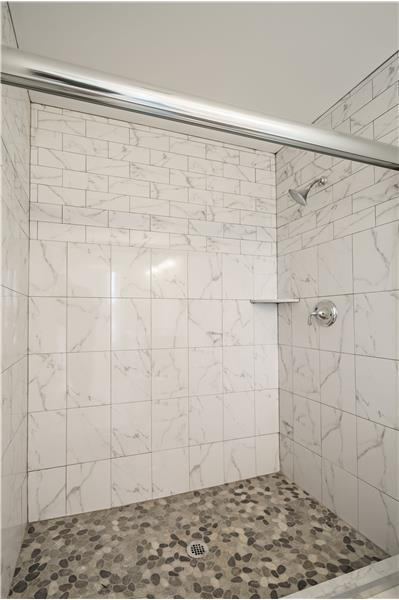 Master Shower w/Glass Doors