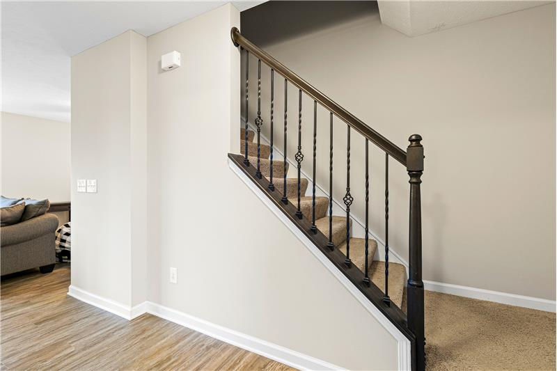 Beautiful Staircase, Wood and rod iron