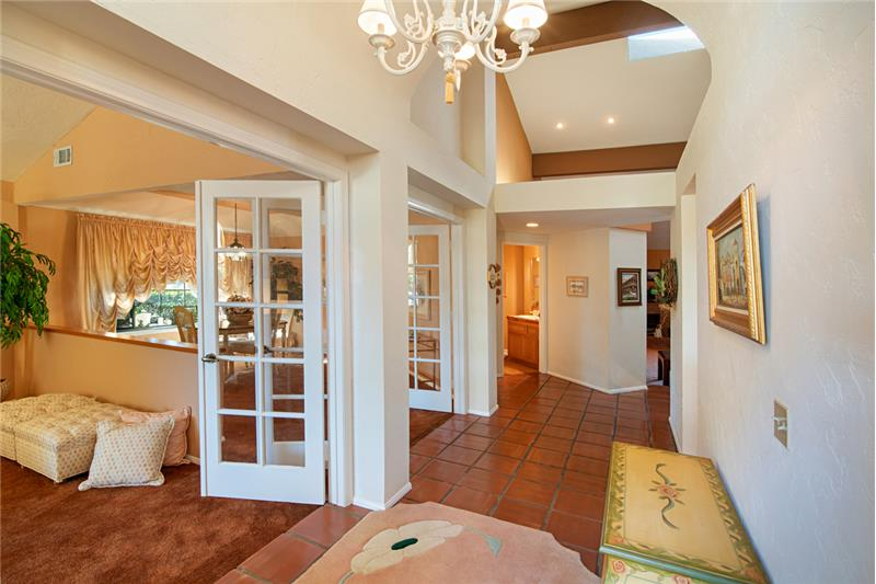 Entry  -  living room to the left