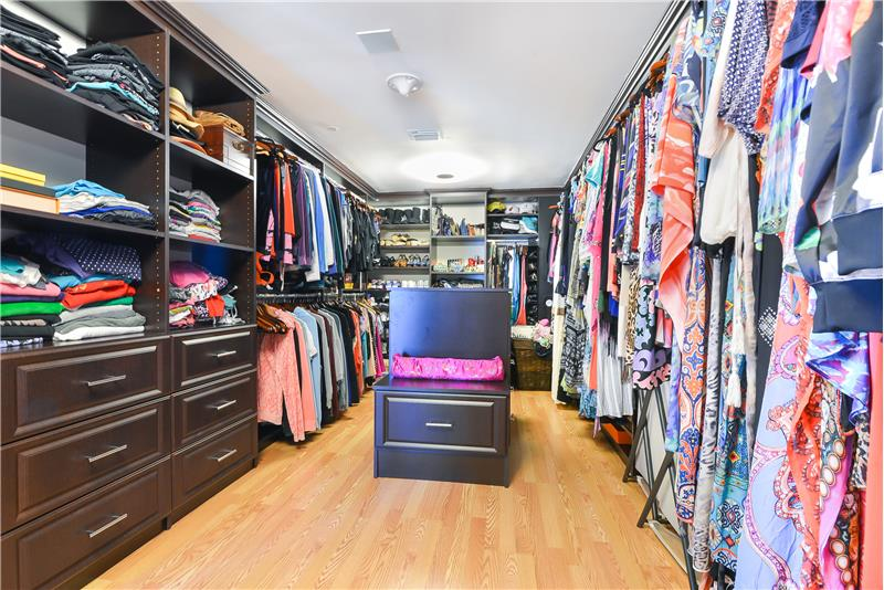 A very deep walk-in closet for your amazing wardrobe collection and with adequate space for your significant other. ;)