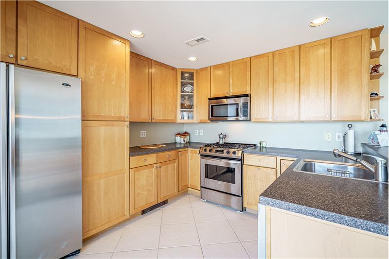 Wood Cabinetry, Glass Accent Door