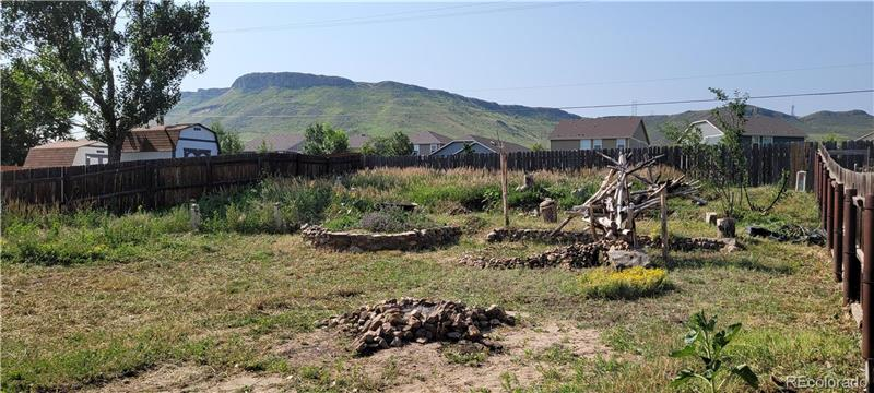 Backyard, with view of N. Table Mountain