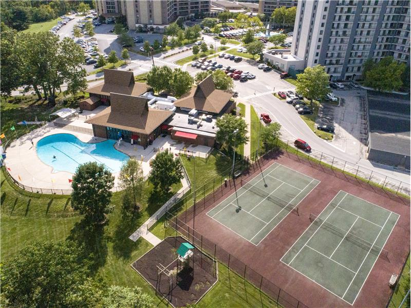 20737 Valley Forge Circle Community Pool and Tennis Courts