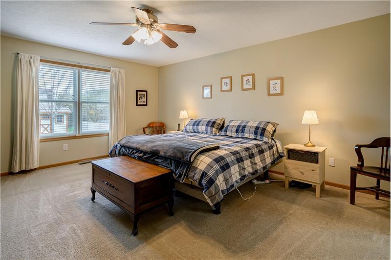 First floor master bedroom!