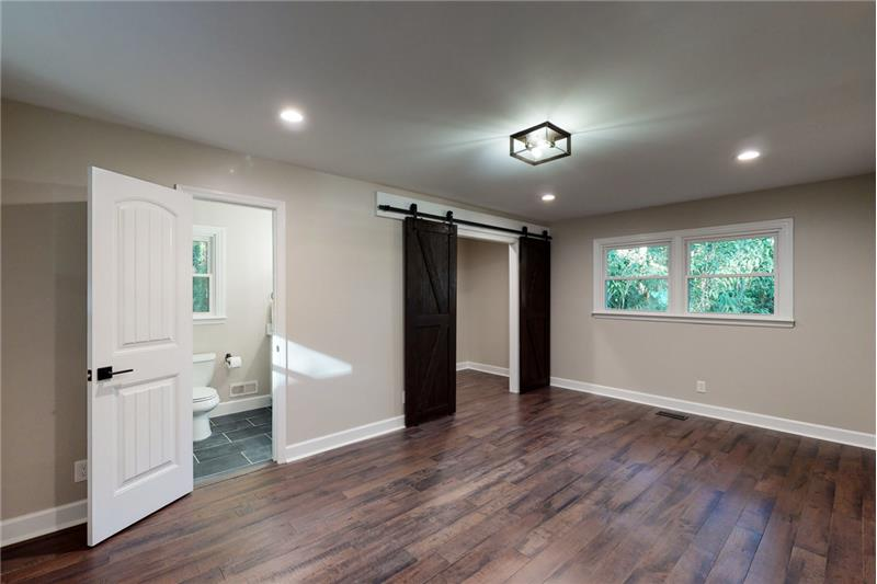 Open large main bedroom