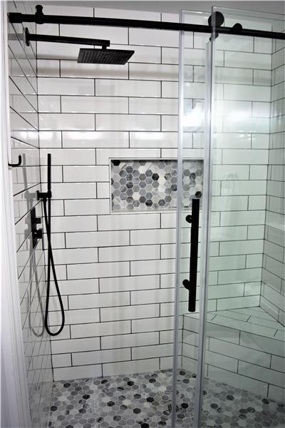 Subway Tiled Main bath