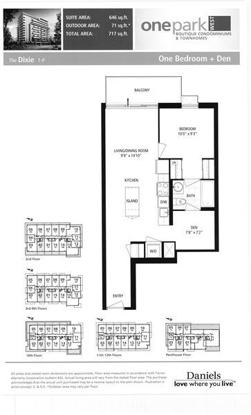 260 Sackville 1 bedroom with den for sale