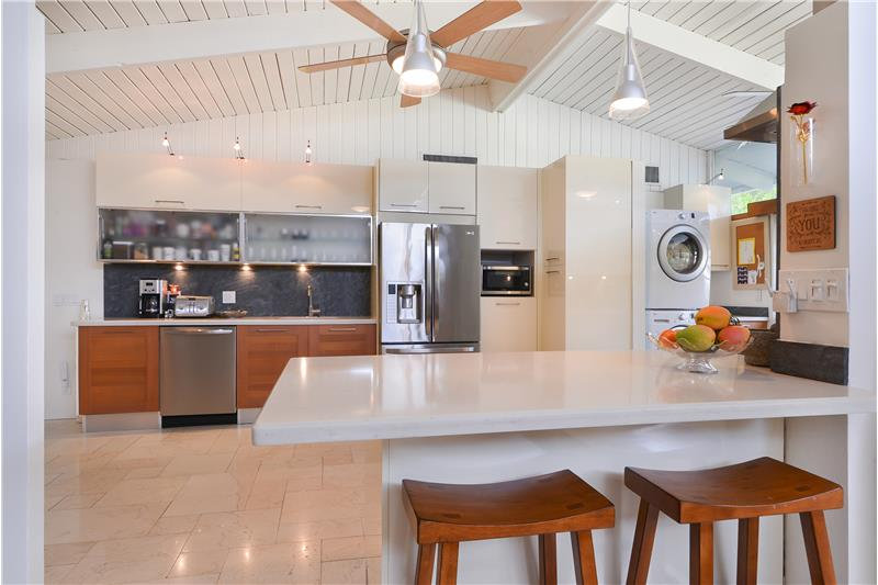 Kitchen is from high-end Italian design by Spazio Di Casa and LED lighting throughout.