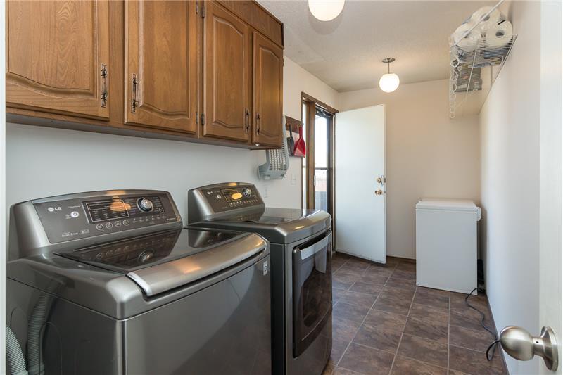 Main floor laundry and back door