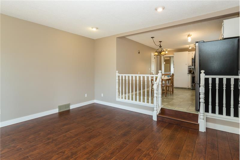 Single stair to Family room