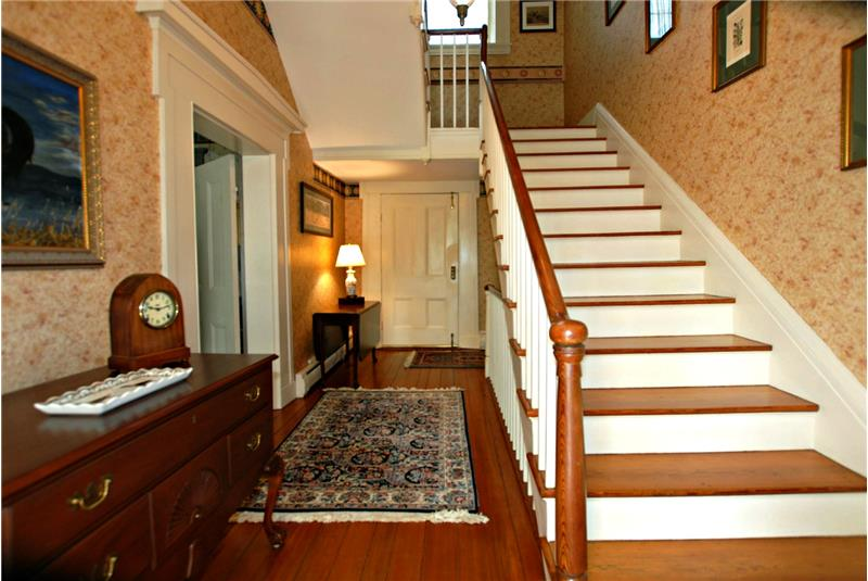 Center hall extends the width of the home