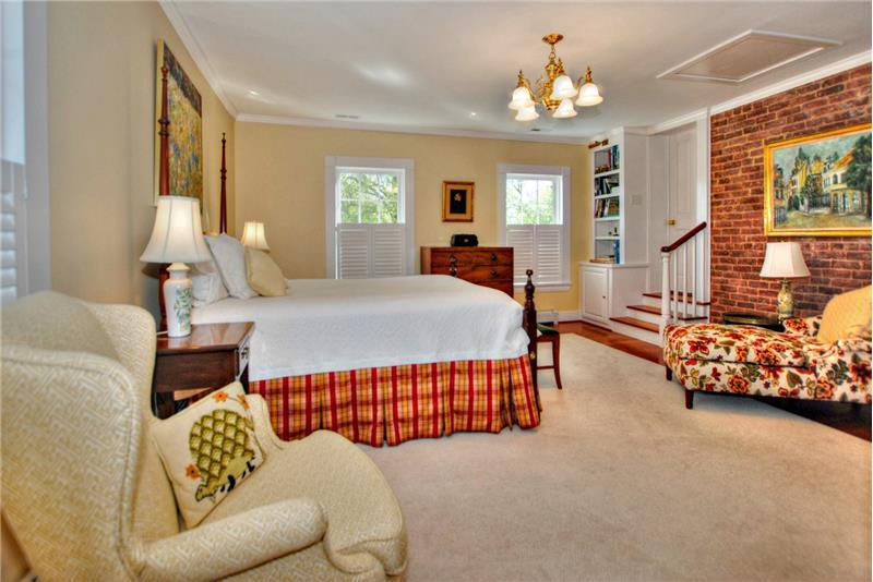 Master bedroom suite adjacent to study