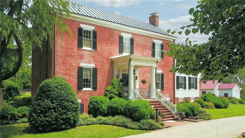 Greek Revival brick home