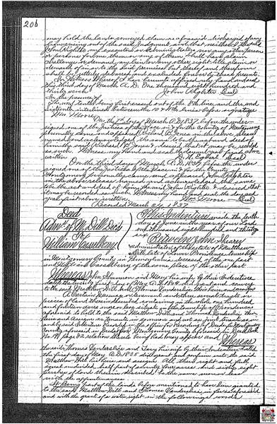 2854 Egypt Road Deed Essay Page Two