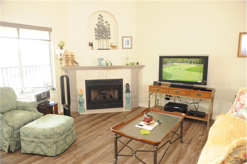 Family Room with Laminate Floor
