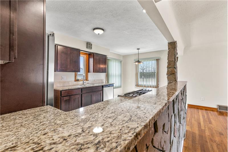 Granite countertops, ceramic floor and so much more