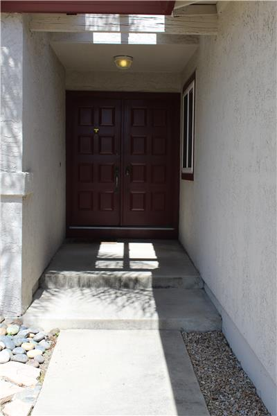 Front Entry with Double Doors