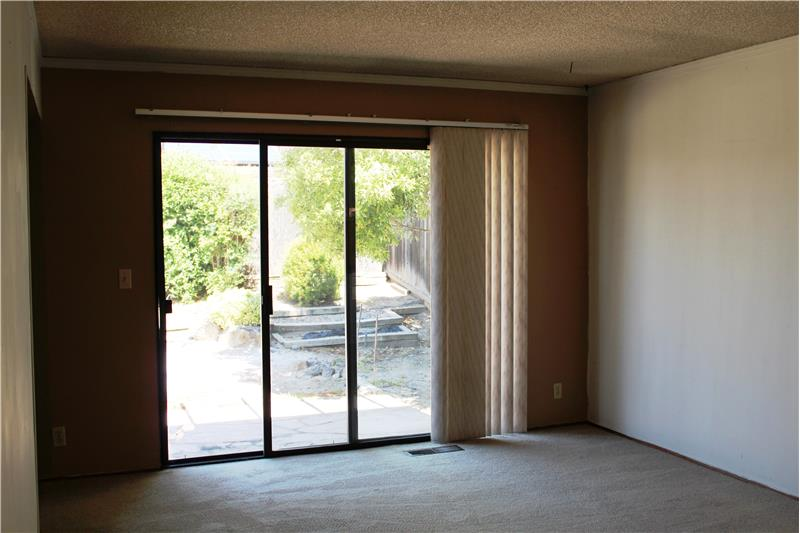 Family Room with Sliding Door to Backyard