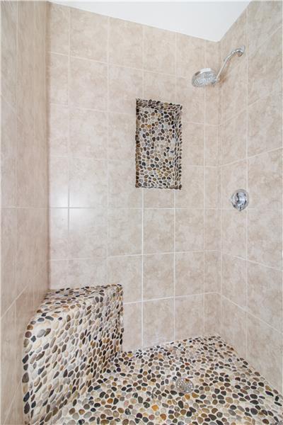 1st Bath - River Rock Shower