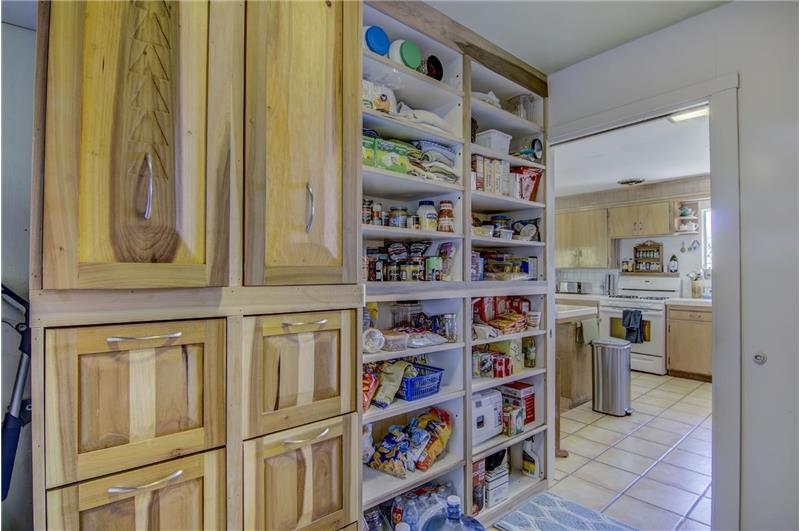 Custom pantry cabinets for canning jars