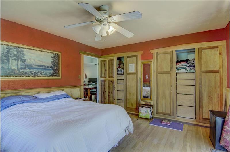 Master bedroom custom closets