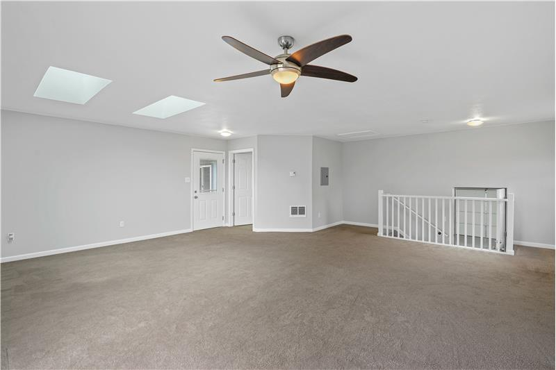 The 640-SF addition has two skylights and 3/4 bathroom