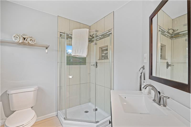 3/4 bathroom in the addition