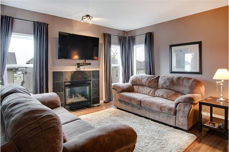 Cozy Living Room with Gas Fireplace