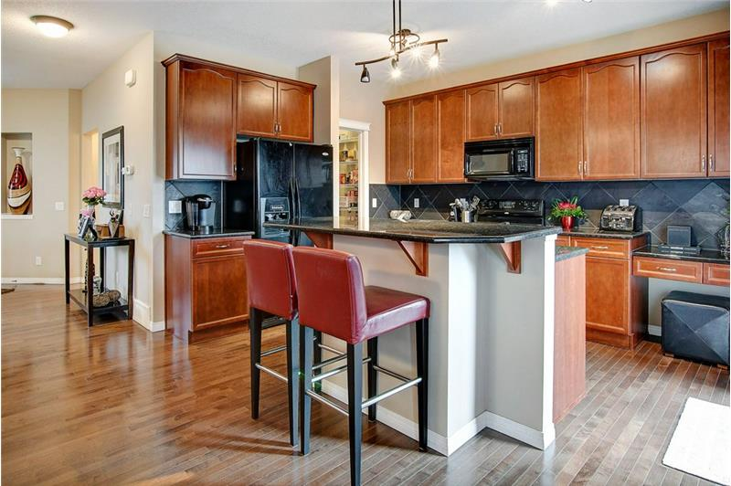 Well Equipped Kitchen with Granite Counter Tops